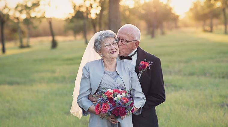 Lovely Elderly Couple Wait For 70 Years To Get Memorable Wedding Photos Trending News The Indian Express