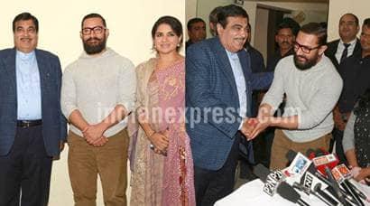 dangal, dangal special screening, Aamir Khan, Sakshi Tanwar, Nitin Gadkari Aamir Khan
