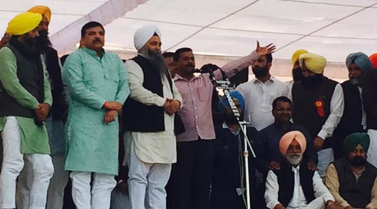 jarnail singh, aap punjab, punjab polls 2017, parkash singh badal, aap punjab, arvind kejriwal, punjab chief minister, delhi chief minister, punjab congress chief, amarinder singh, akali dal, punjab elections 2017, punjab assembly polls, punjab news, lambi, india news, indian express