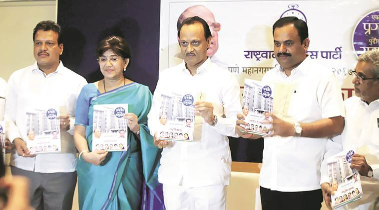 NCP, Maharashtra civic polls, digital literate city, NCP manifesto, NCP agenda, sharad pawar, NCP chief sharad pawar, NCP leader, Ajit pawar, Pune Municipal Corporation, PMC, pune news, indian express news