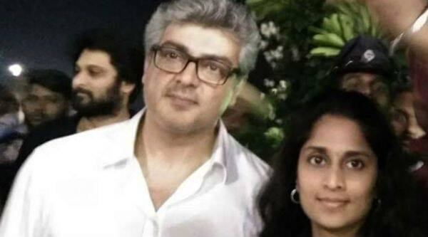 Ajith and his wife Shalini pay tribute to late Tamil Nadu Chief Minister Jayalalithaa