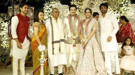 Nagarjuna's son Akhil gets engaged to Shriya Bhupal in private ceremony, see pics