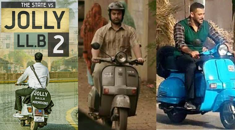 After Salman Khan and Aamir Khan, superstar Akshay Kumar too released a poster of himself on a scooter