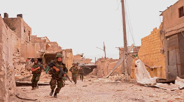 IS surrendering in Syria's capital