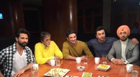 Amitabh Bachchan, Ranbir Kapoor, Sushant Singh Rajput, Shahid Kapoor, Diljit Dosanjh, Rajeev Masand, Rajeev Masand roundtable session, roundtable session, 2016 actors roundtable session