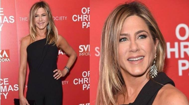 Jennifer Aniston in a Brandon Maxwell jumpsuit. (Source: Instagram/Brandon Maxwell)