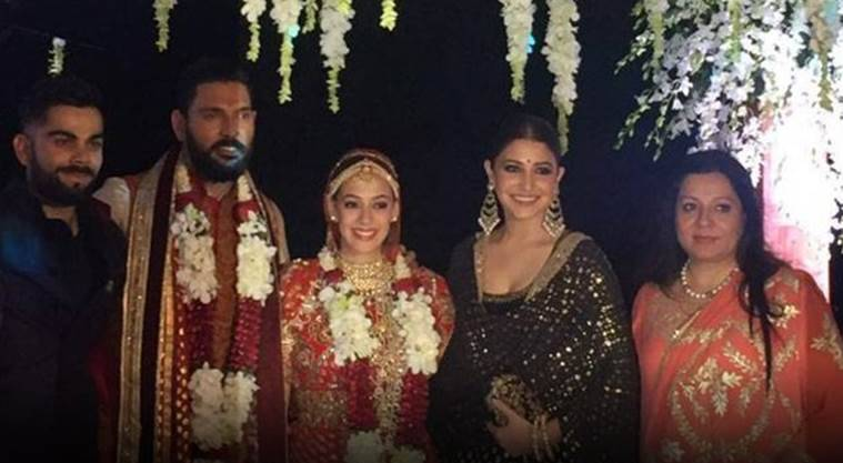 Yuvraj Singh, Hazel Keech, Anushka Sharma, Virat Kohli were spotted in in the same frame, and the internet just can't stop going all woah!