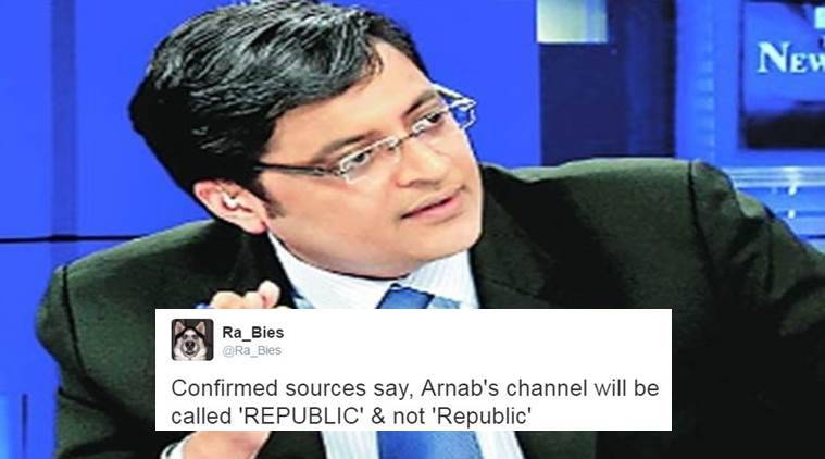 Arnab Goswami's new venture is called 'Republic'