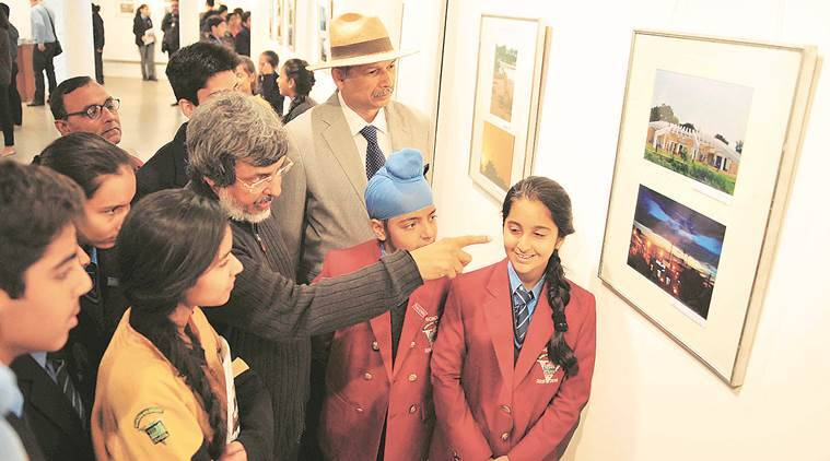 Diwan Manna, Diwan Manna exhibition, Diwan Manna chandigarh, View From Third Eye' Slupteye Club of Vivek High School, Vivek High School, latest news, latest india news