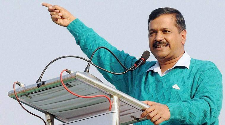 Ranchi: Delhi Chief Minister Arvind Kejriwal addresses a rally against Demonetization at Harmu ground in Ranchi on Thursday. PTI Photo (PTI12_22_2016_000223B)