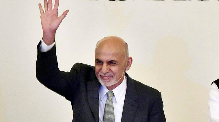 Amritsar: Prime Minister Narendra Modi and Afghanistan's President Ashraf Ghani greet the delegates during the inauguration of the 6th Heart of Asia Ministerial Conference, in Amritsar on Sunday. PTI Photo by Kamal Kishore(PTI12_4_2016_000025A)