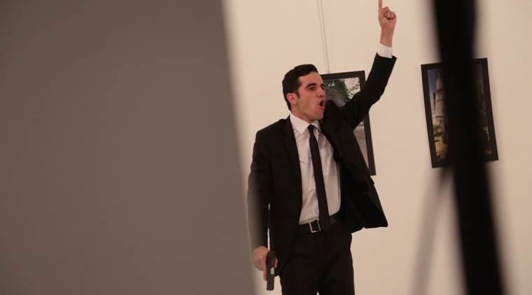 Russian ambassador wounded, Russian ambassador attacked, Turkey, Ankara, Istanbul, Cagdas Sanatlar Merkezi, Andrey Karlov russian ambassador, world news, indian express news