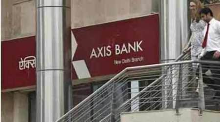 axis bank, axis bank q2 loss, axis bank shares, axis bank one time tax impact, business news, indian express news