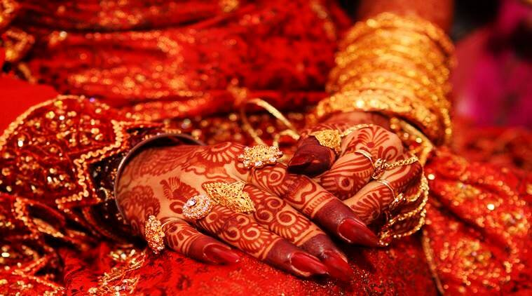Indian bridal hand