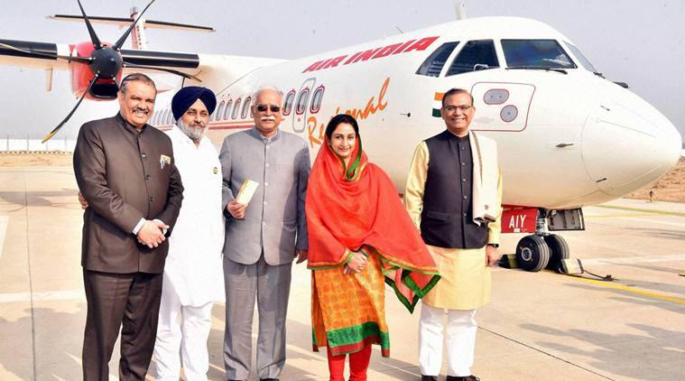 bathinda, delhi bathinda flight, bathinda badals, punjab elections, harsimrat kaur badal, badal bathinda, bathinda delhi flight, india news