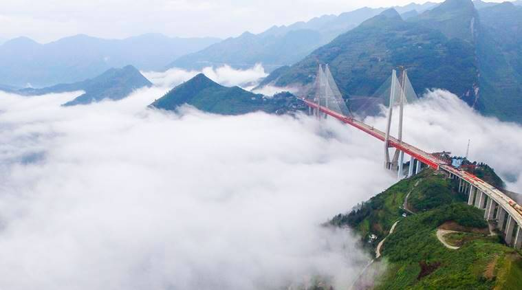 Beipanjiang bridge, Guizhou province, world highest bridge, world news, latest news