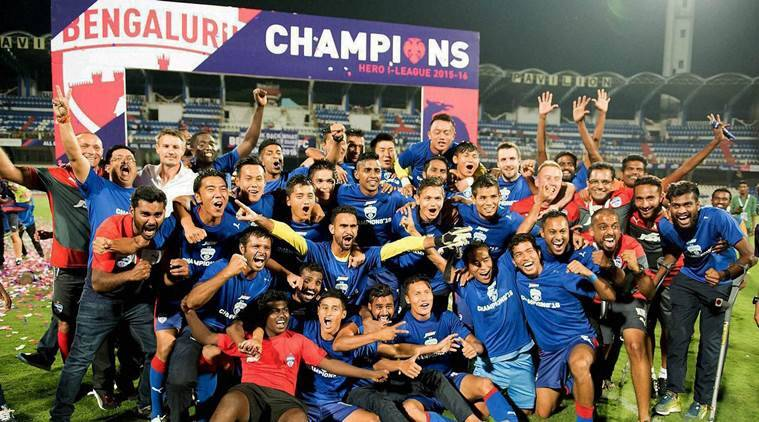Bengaluru FC won the I-League by two points over Mohun Bagan. (Source: PTI)