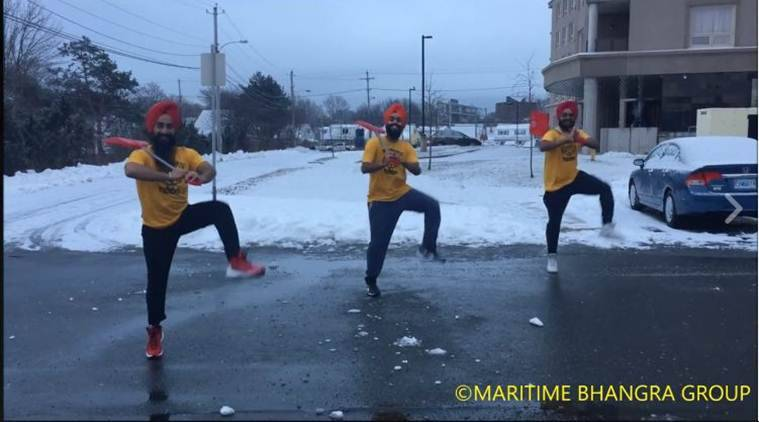 Celebrating winter and toiling task in style!(Source: Maritime Bhangra Group/ Facebook)