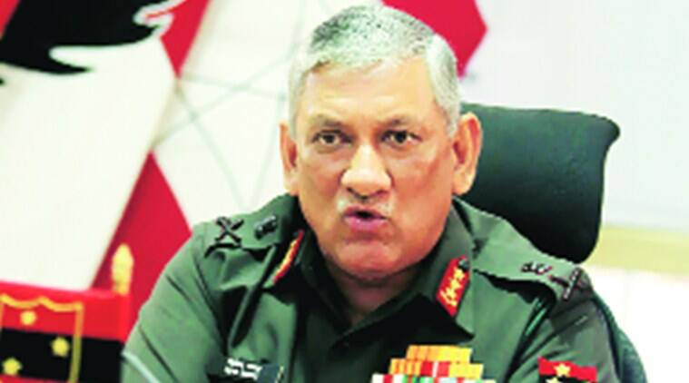 Lt Gen Bipin Rawat at Idea Exchange with The Indian Express in Pune in April. File