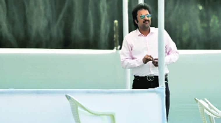 Kuldeep Bishnoi, congress Kuldeep Bishnoi, Kuldeep Bishnoi congress, Kuldeep Bishnoi son, son of Kuldeep Bishnoi, Kuldeep Bishnoi son ranji trophy, Kuldeep Bishnoi son cricket, ranji trophy, ranji trophy quarter final, ranji trophy cricket, cricket, Baroda, Indian Express