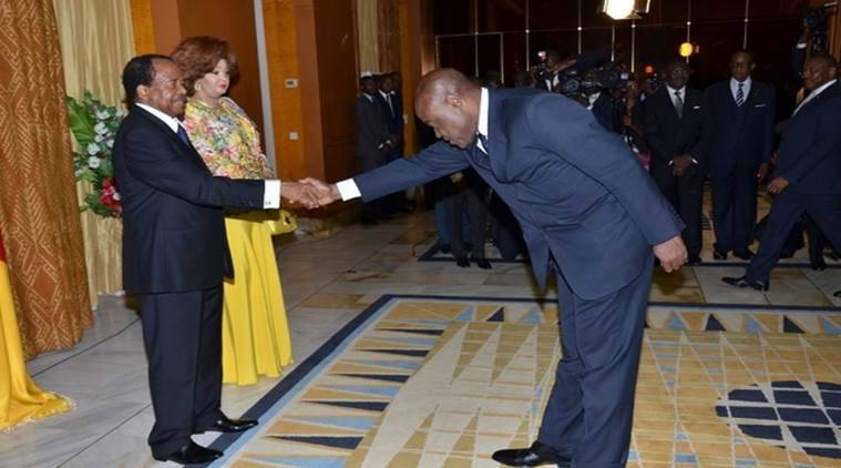 Cameroon's minister of sports and physical education Pierre Ishmael Bidoung Kpwatt met President Paul Biya/ Source: Twitter