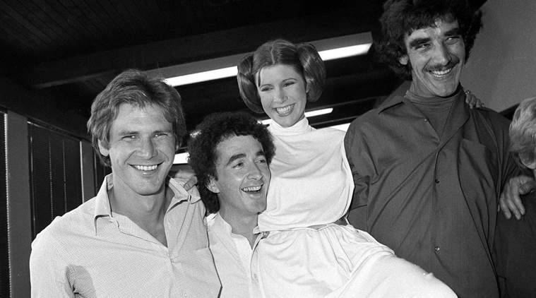Carrie Fisher, Harrison Ford, Anthony Daniels, Peter Mayhew