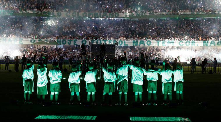 Fans gather at the Couto Pereira stadium during a symbolic event to remember the Chapecoense soccer team who died in a plane crash in Colombia, in Curitiba
