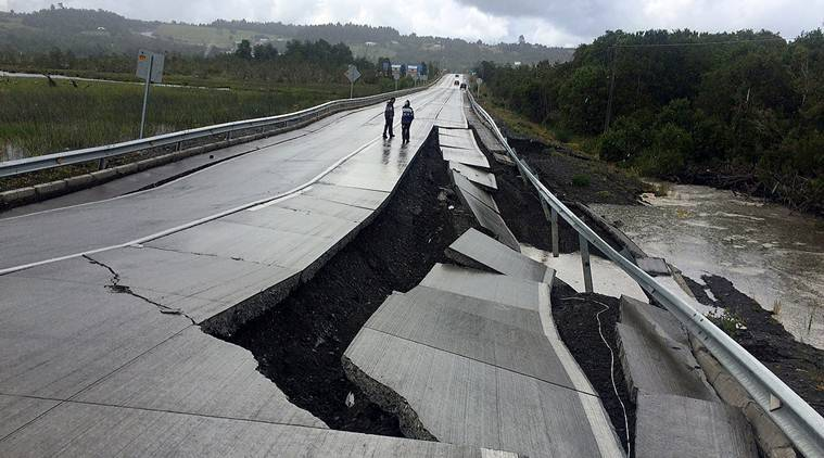 earthquke, chile, chile earthquake, earthquake in chile, world news, chile news, indian express