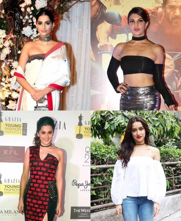kareena kapoor, deepika padukone, sonam kapoor, katrina kaif, shraddha kapoor, fashion trends 2016, 2016 fashion trends, chokers, off shoulders, indian express, indian express news, fashion, lifestyle