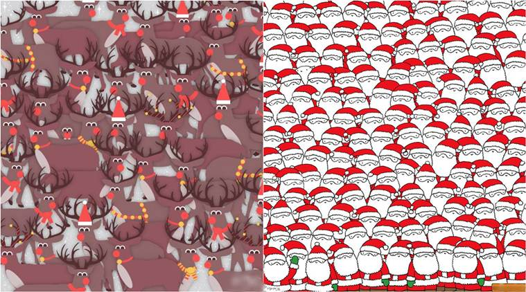 Christmas, christmas 2016, christmas puzzle, optical illusion, christmas optical illusion, christmas eye puzzle, trending news, lifestyle news, latest news, indian express