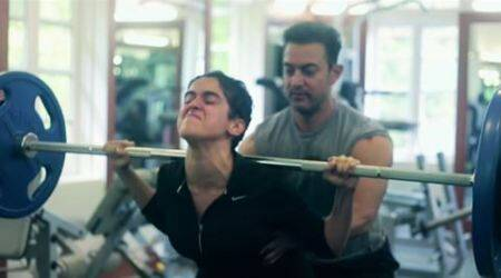dangal, aamir khan, aamir khan dangal, aamir khan dangal fat to fit video, making of dangal girls video, making of dangal girls fitness, dangal girls fitness video, indian express, fitness tips, how to become fit, how to become healthy easy, lifestyle, fitness, trending