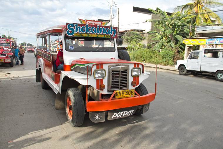 The jeepney is a popular form of public transport.