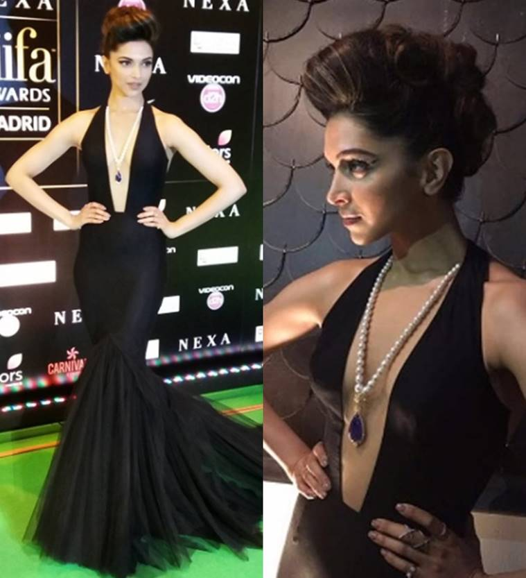 While IIFA 2016 was an event crowded by sultry divas, Deepika took our breath away with her daringly desirable plunging neckline gown by Swapnil Shinde. What caught everybody's attention apart from the gown was her choice of hairstyle. And, we aren't complaining! (Source: File Photo)