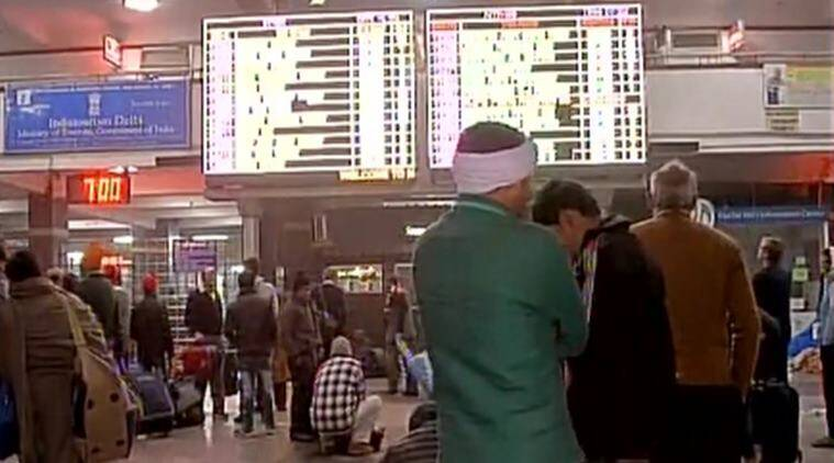 """Trains and flights continue to see delays due to the foggy weather condition in north India. On Saturday, two flights at the airport were canceled, while several trains reported delays in the Ambala division of the Northern railway. Railway officials said while all the Shatabdi trains operating between Chandigarh to Delhi arrived and departed on time, several other trains in the division were delayed due to the foggy weather. One Chandigarh-bound train was also delayed due to the fog. At Chandigarh International Airport, two flights were canceled and airport officials said that all the flights operated normally """"with some delay"""". The delayed flights were of Jet Airways and IndiGo. Both flights were delayed by around one hour."""