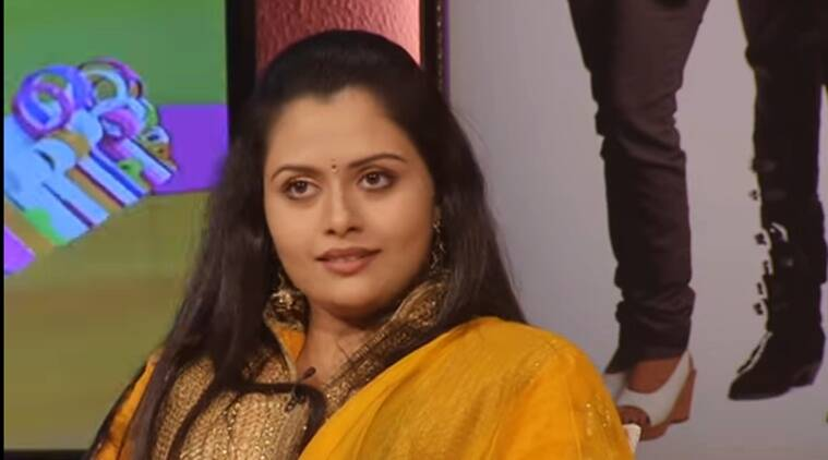 Dhanya Mary Varghese speaking in a TV show. (Source: YouTube screen-grab)