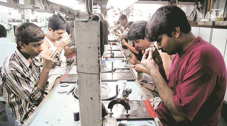 gujarat small diamond businesses shut india news the indian express