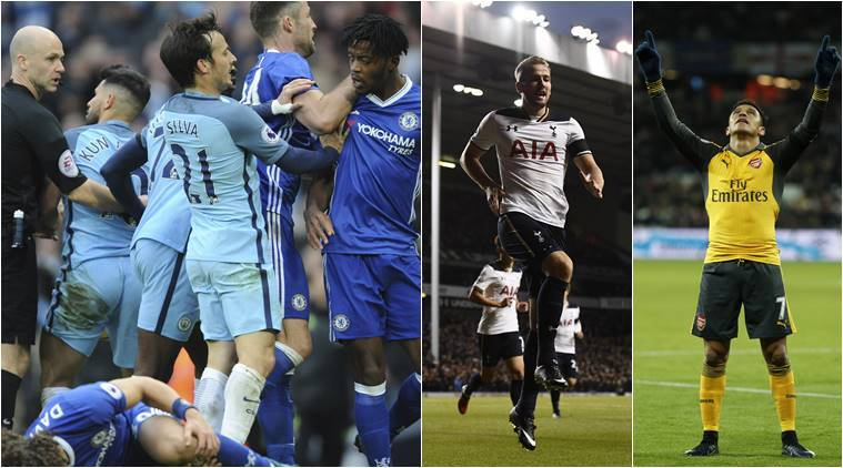EPL Roundup: Chelsea beat 9-man Manchester City; big wins for Arsenal, Spurs