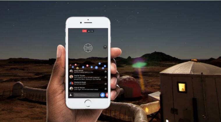 Facebook, Facebook live video, Facebook 360 live videos. Facebook Mars 360 live video, National Geographic 360 live video, Facebook live 360 video launch, Facebook app, social media, technology, technology news
