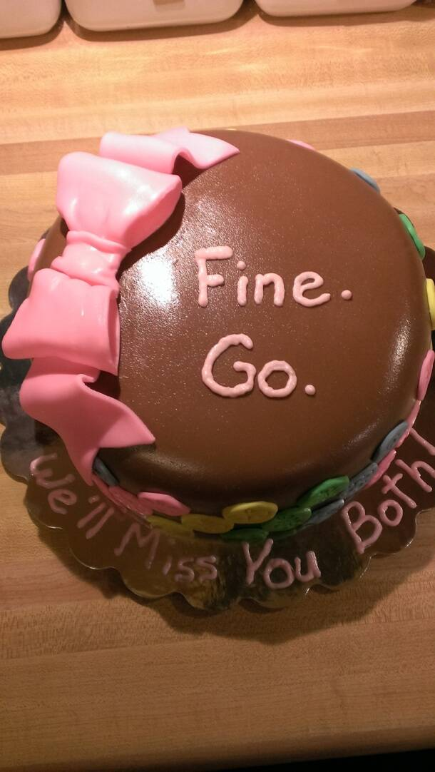 PHOTOS: 10 hilarious farewell cakes that would turn sad ...