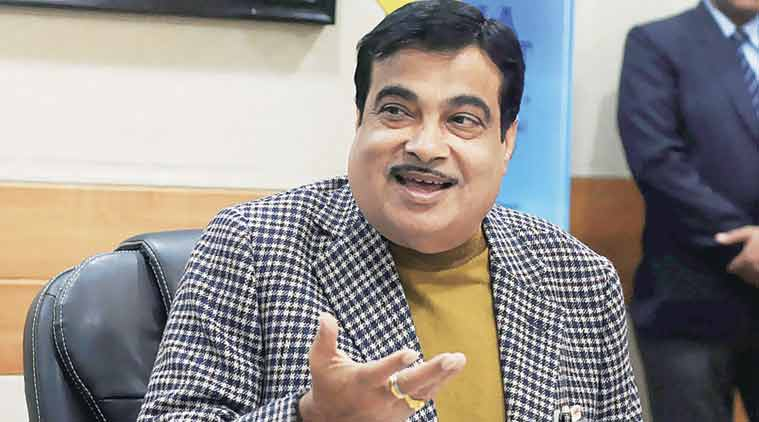 Nitin Gadkari, Minister of Shipping, Road Transport & Highways addresses the media after inaugurating the Sagarmala Development Company's office  premises in New Delhi on Monday.  (PTI Photo)
