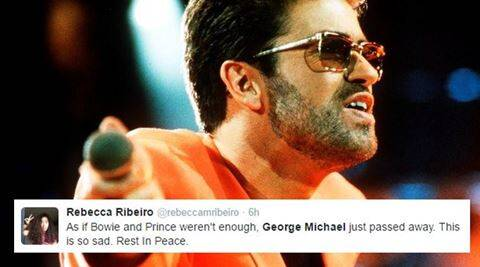 george michael, george michael dies, RIP George Michael, george michael dies Christmas, George Michael RIP, wake me up before you go-go, wham, young guns, indian express, indian express news, indian express trending