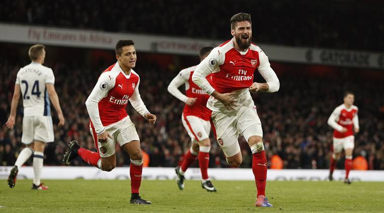 Olivier Giroud Late Strike Gives Arsenal Win Over West Brom Sports News The Indian Express
