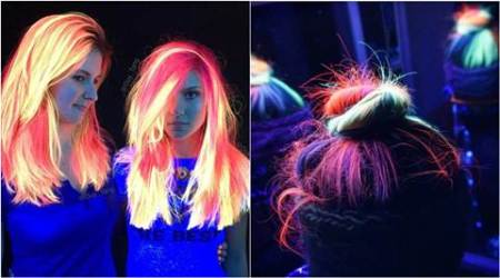 neon hair, rainbow hair, glow in the dark hair, hair trends, hair colour trends, neon hair colour trend, neon hair dye, neon glowing hair colours, hair fashion, 2016 fashion trends, lifestyle news, latest news, indian express