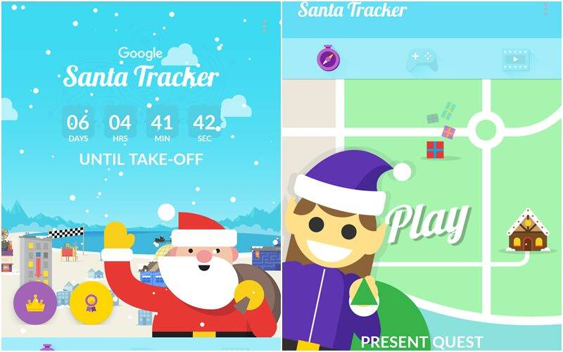 Google rolls out its first official Santa tracker app | The Indian ...