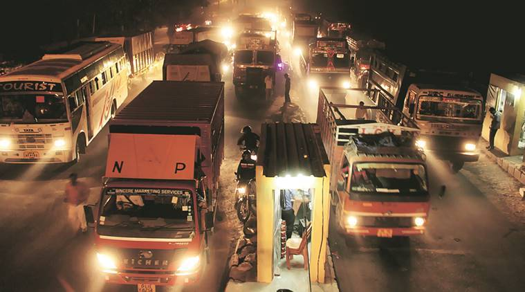 heavy commercial vehicles, trucks, commercial trucks, commercial vehicle, delhi, delhi pollution, pollution, MHCV, scrapping policy, motor vehicle act, LMV, vehicle emission, heavy vehicle ban, heavy vehicles, supreme court, indian express news, india news