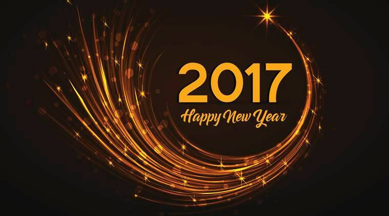 happy new year 2017 vector illustration christmas background