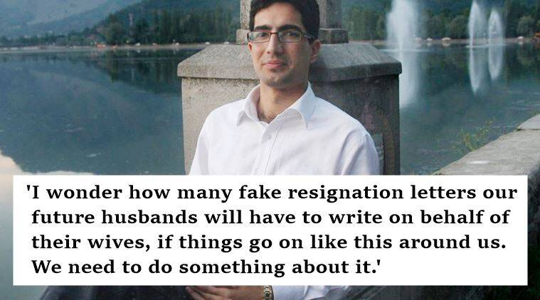 shah faesal ias, shah faesal facebook, shah faesal facebook post viral, shah faesal woman's resignation letter facebook post viral, ias faesal facebook post, ias faesal civil services, government, patriarchy, feminism, sexism, feminism in india, patriarchy in india, indian express, indian express news, indian express trending, viral