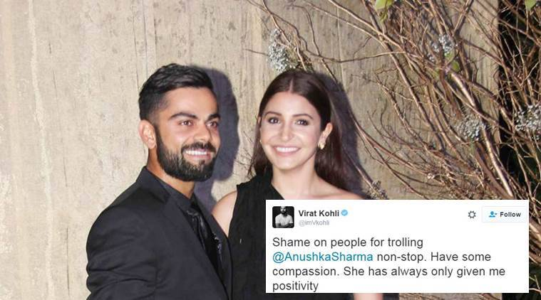 Virat Kohli came out in support of Anushka Sharma when she was trolled for his performance