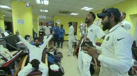 ind vs eng, india vs england, india dressing room, india vs england fifth test, india vs england chennai test, india vs england chennai, india vs england final test, india vs england last test, india vs england test series, virat kohli, ravindra jadeja, murali vijay, ravindra jadeja, ravichandran ashwin, cricket news, sports news