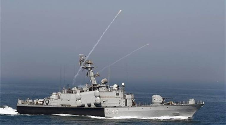 Mumbai: A naval boat during 'Day at Sea' exercise conducted as part of the Navy Day celebrations in Mumbai on Monday. PTI Photo by Shashank Parade (PTI11_28_2016_000268A)